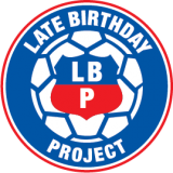 Late Birthday blue logo